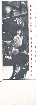 1971 - 1972 Colgate Basketball press Media guide