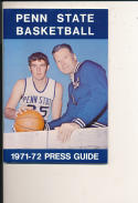 1971 - 72 Penn State Basketball press Media guide