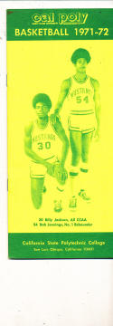 1971 - 1972 Cal Poly San Luis Obispo Basketball press Media guide