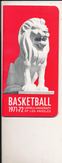 1971 - 1972 Loyola Los angeles  Basketball press Media guide
