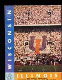 11/13 1954 Wisconsin vs Illinois  Football Program