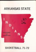 1971 - 1972 Arkansas state Basketball press Media guide