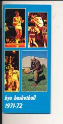 1971 - 72 Byu Basketball press Media guide