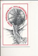 1971 - 1972 Massachusetts university Basketball press Media guide