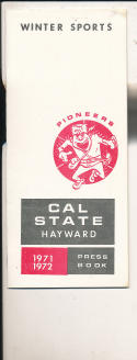 1971 - 1972 Cal State Hayward Basketball press Media guide