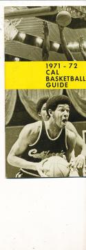 1971 - 1972 California Basketball press Media guide