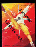 1947 11/22 Wyoming vs Colorado A&M  Football Program