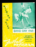 10/23 1948 Wyoming vs Utah  Football Program