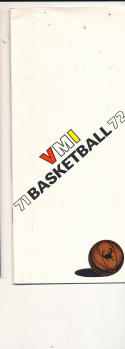 1971 - 1972 VMI Basketball press Media guide