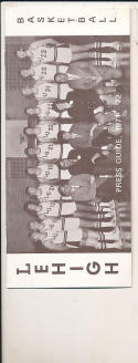 1971 - 1972 Lehigh Basketball press Media guide