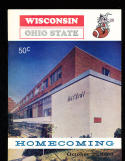 1966 10/22 Wisconsin vs Ohio State  Football Program