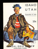 1941 9/27 Idaho vs Utah  Football Program
