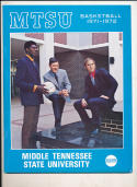 1971 - 1972 Middle Tennessee State basketball press Media guide