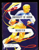 10/30 1948 Akron vs Wooster Football Program