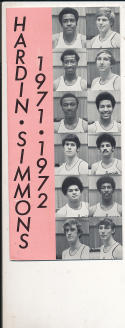 1971 - 1972 Hardin Simmons Basketball press Media guide