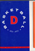 1971 - 1972 Dayton  Basketball press Media guide