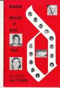 1971 - 1972 University of Detroit Basketball press Media guide