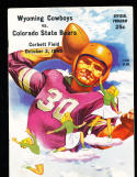 10/2 1948 Wyoming vs Colorado State  Football Program