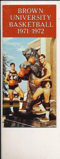 1971 - 1972 Brown Basketball press Media guide