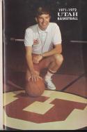 1971 - 1972 Utah Basketball press Media guide