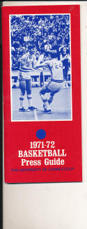 1971 - 1972 University of Connecticut Basketball press Media guide