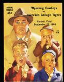 1948 9/25 Wyoming vs Colorado College  Football Program