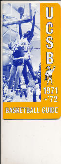 1971 - 1972 UCSB Basketball press Media guide