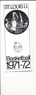1971 - 1972 St. Louis University Basketball press Media guide
