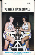 1971 - 1972 Furman   Basketball press Media guide