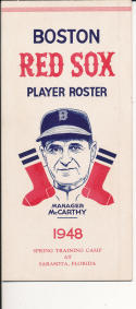 1948 Boston Red Sox  Player Roster em - McCarthy