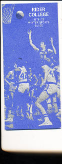 1971 - 1972 Rider College Basketball press Media guide