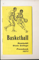 1971 - 1972 Humbolt State Basketball press Media guide