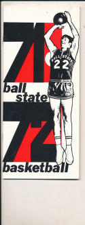1971 - 1972 Ball state Basketball press Media guide