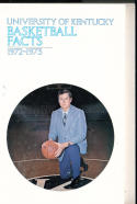 1972 - 1973 Kentucky  Basketball press Media guide