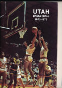 1972 - 1973 Utah  Basketball press Media guide