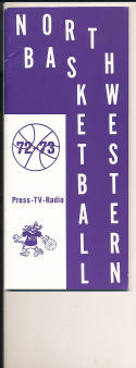 1972 - 1973 Northwestern University Basketball press Media guide