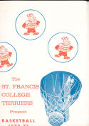 1972 - 1973 St Francis College terriers  Basketball press Media guide