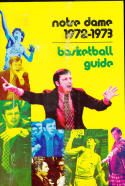 1972 - 1973 Notre Dame University  Basketball press Media guide