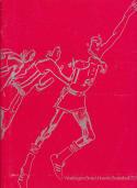 1972 - 1973 Washington State University Basketball press Media guide bkbx8