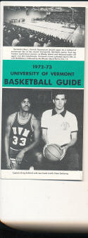 1972 - 1973 Vermont University Basketball press Media guide