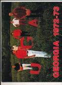 1972 - 1973 Georgia University Basketball press Media guide