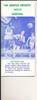 1972 - 1973 Pan american University Basketball press Media guide