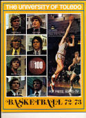 1972 - 1973 Toledo University Basketball press Media guide bkbx8