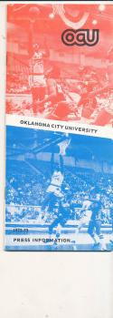 1972 - 1973 Oklahoma City University Basketball press Media guide