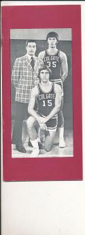 1972 - 1973 Colgate University Basketball press Media guide