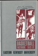 1972 - 1973 Eastern Kentucky University Basketball press Media guide