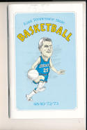 1972 - 1973 East Tennessee State University Basketball press Media guide