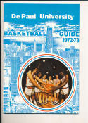 1972 - 1973 De Paul University  Basketball press Media guide