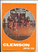 1972 - 1973 Clemson University  Basketball press Media guide