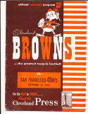 10/30 1949 Cleveland Browns vs San Francisco 49ers AAFC football program